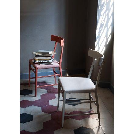 """Zanotta - Sedia con struttura in legno massello verniciato, disponibile in diverse varianti. - """"Noli"""" 2054"""
