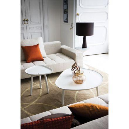 """Zanotta """"Ninfea""""  654 - Tavolino colore bianco opaco, adatto anche per esterni. - Made in Italy, design italiano, arredamento on line, home decor, arredamento design, arredamento moderno, arreda la tua casa, home design, arredamento di lusso"""