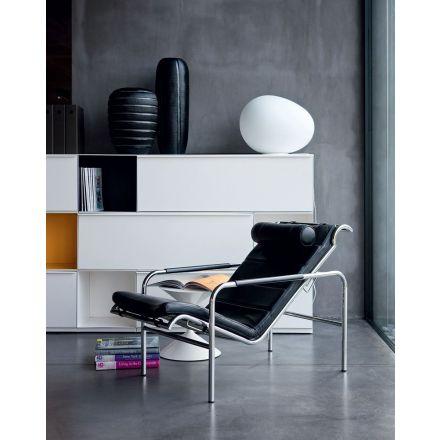 """Zanotta """"Genni"""" 920 - Chaise longue in acciaio, rivestita in pelle in diverse varianti. - Made in Italy, design italiano, arredamento on line, home decor, arredamento design, arredamento moderno, arreda la tua casa, home design, arredamento di lusso"""